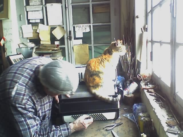 Nazareno con su gata